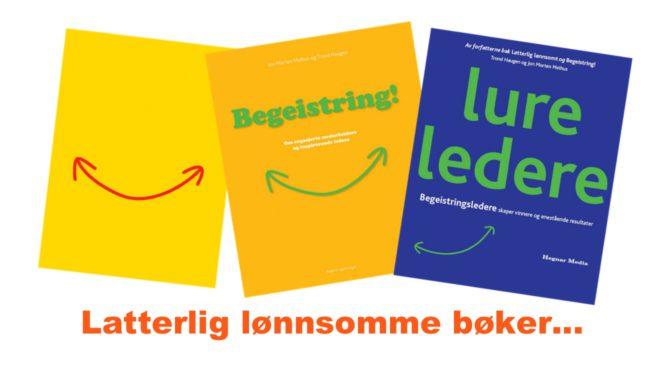 Bøker om humor, begeistring, lønnsomhet og ledelse