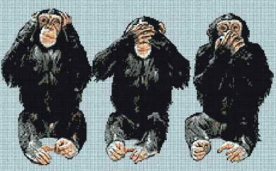 Fem aper i et bur