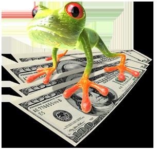 Salget hopper i været med humor – og en frosk